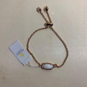 Kendra Scott Elaina Rose Gold Bracelet White Pearl